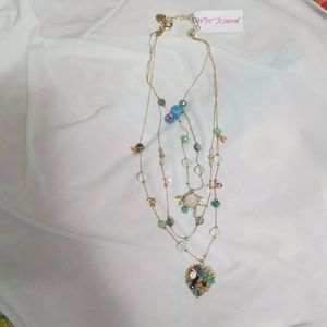 Betsey Johnson Floral Necklace